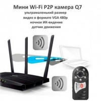 Миниатюрная Wi-Fi камера Q7 Night Vision P2P