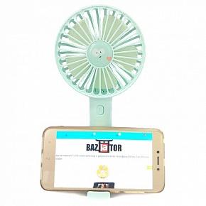 Портативный USB-вентилятор с держателем телефона Mini Fan Phone Holder (бирюзовый)